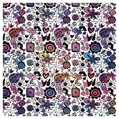 Botanical Folk Flowers - Ladies T Shirt