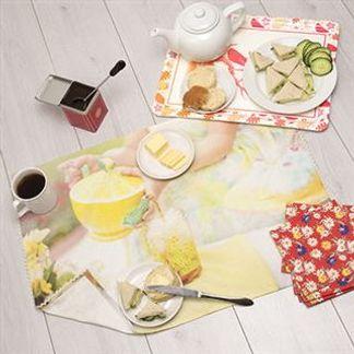 custom tea towel photo collage