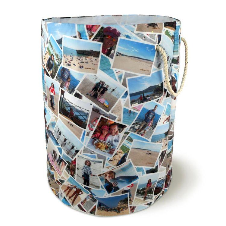 Designa din egen tvättkorg med fotocollage