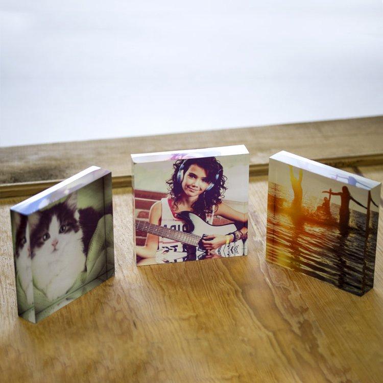 Print Instagram Photos On Square Acrylic Blocks