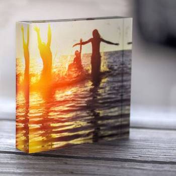 Instagram Acrylic Block