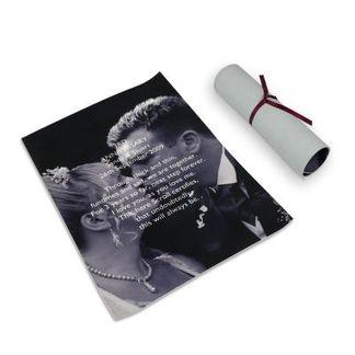 Läderbröllop - elegant läderrulle