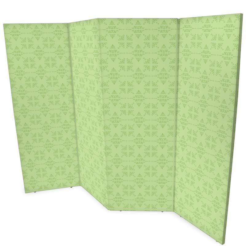 4 panel dividing screens in green