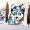 customized pillow wolf