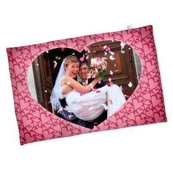 Coperta romantica con cuore e foto