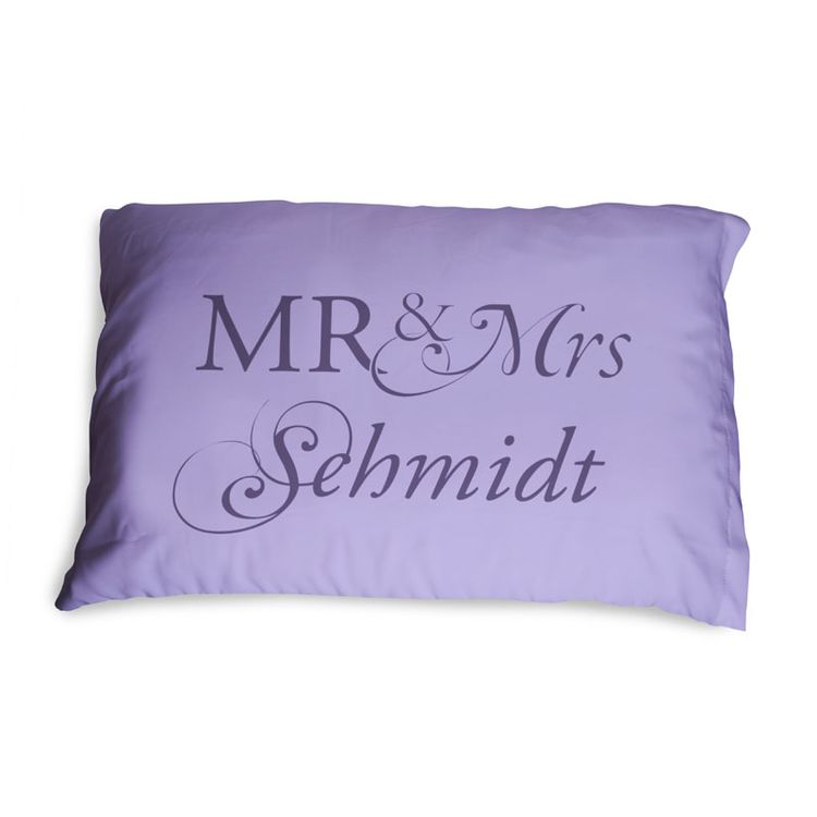 Custom Mr. And. Mrs. Pillowcases