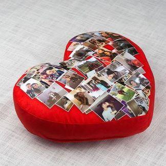 Coussin cœur personnalisable