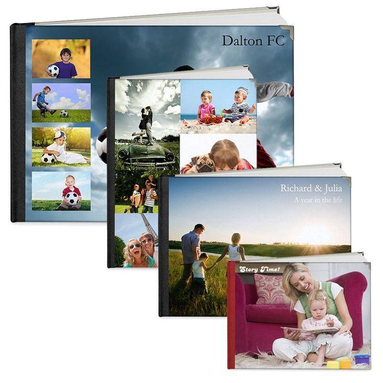 Personliga fotoböcker 4 olika storlekar