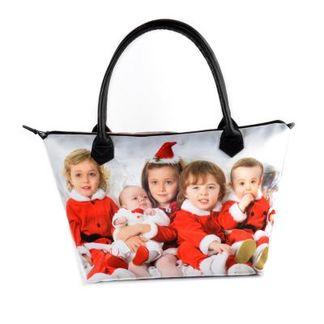 Christmas Zip Top Handbag