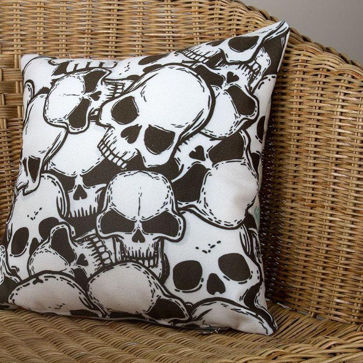 skull  personalised  photo pillows