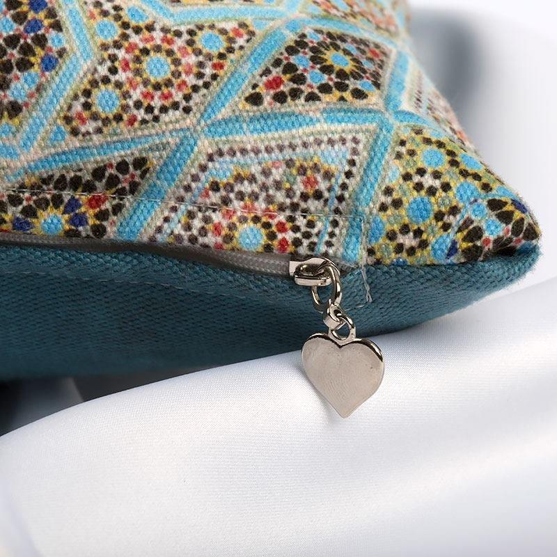 boho pattern zipper detail
