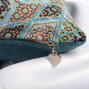 dettaglio del set cuscino con stampa personalizzata