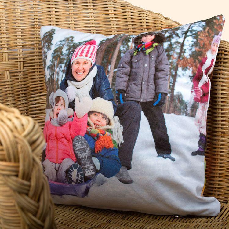 family photo pillow