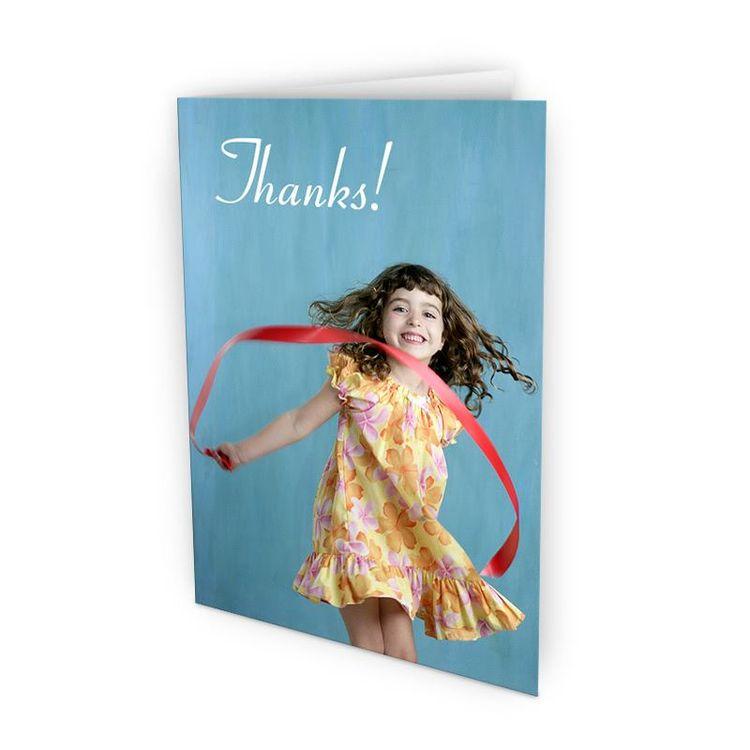 Tarjeta agradecimiento con foto