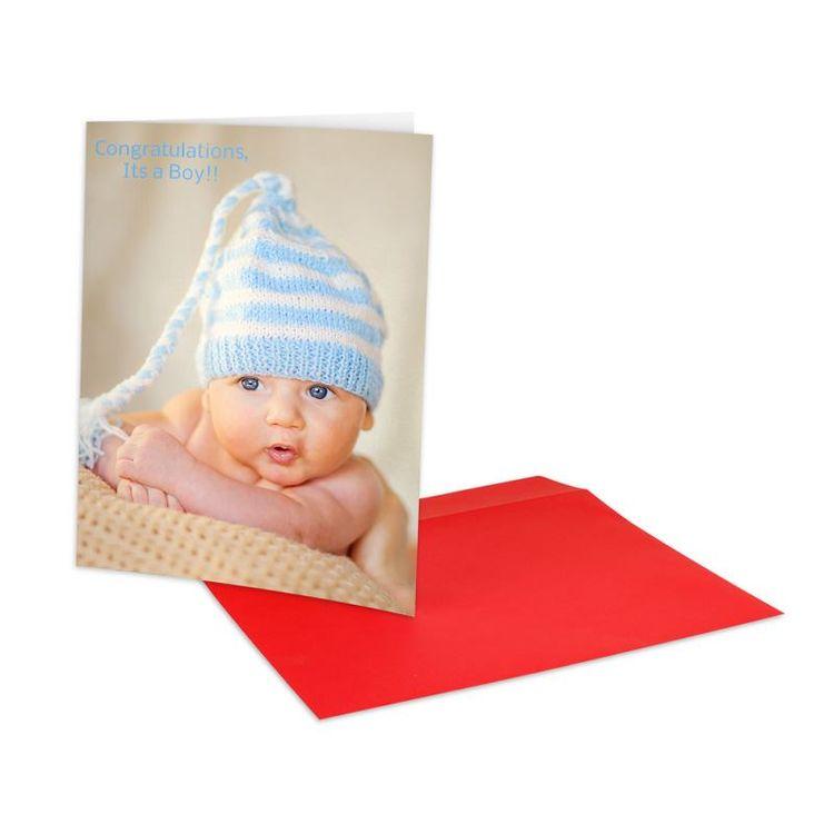 Tarjeta de felicitacion a4 con foto bebe