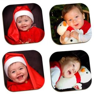 Decorative Christmas Coasters customised with photos