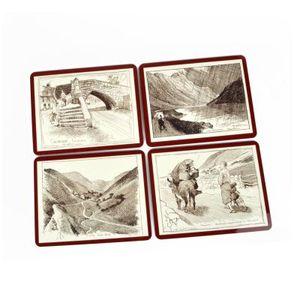 Sottobicchieri con collage di foto