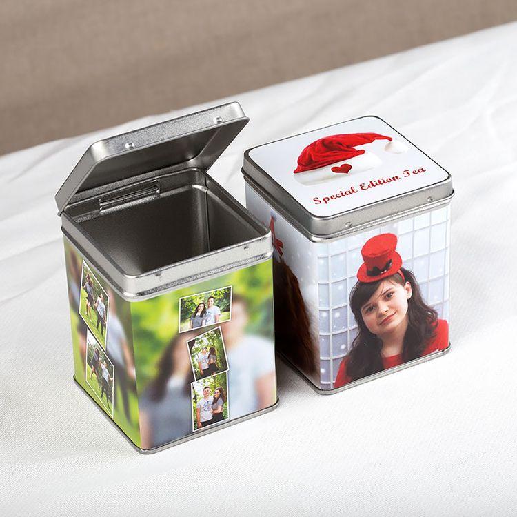 personalised tea tin