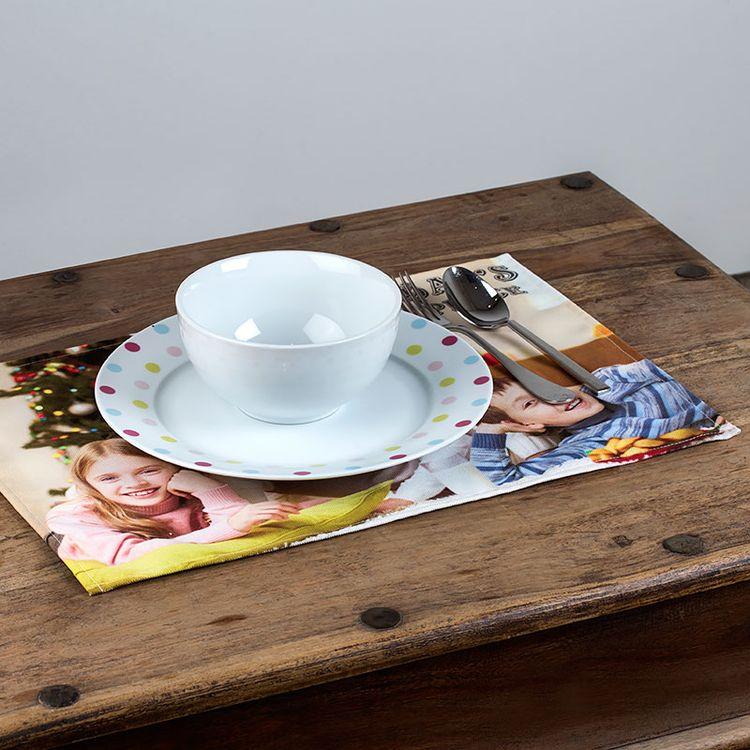 Set de table personnalisé en tissu avec tasse