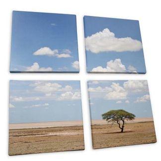 4-delad canvastavla med eget foto