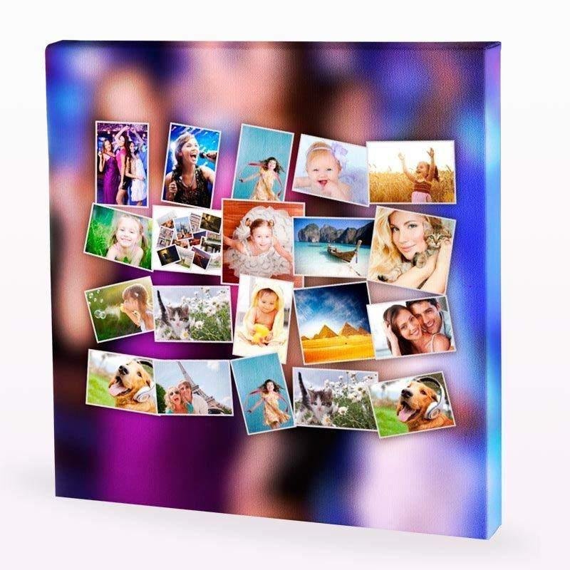 Lienzo collage crea tu lienzo con collage personalizado - Fotoleinwand collage gestalten ...
