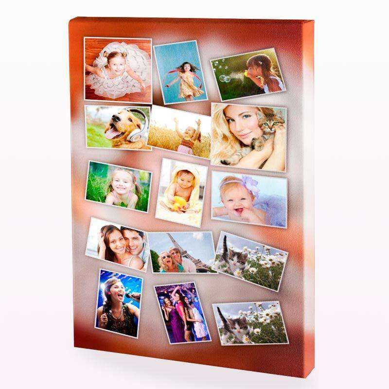 Photo collage canvas collage canvas with photos - Fotoleinwand collage gestalten ...