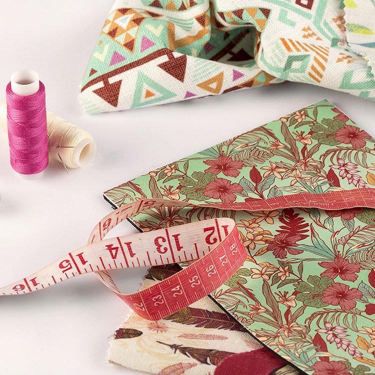 印花设计布料样品,英国制造