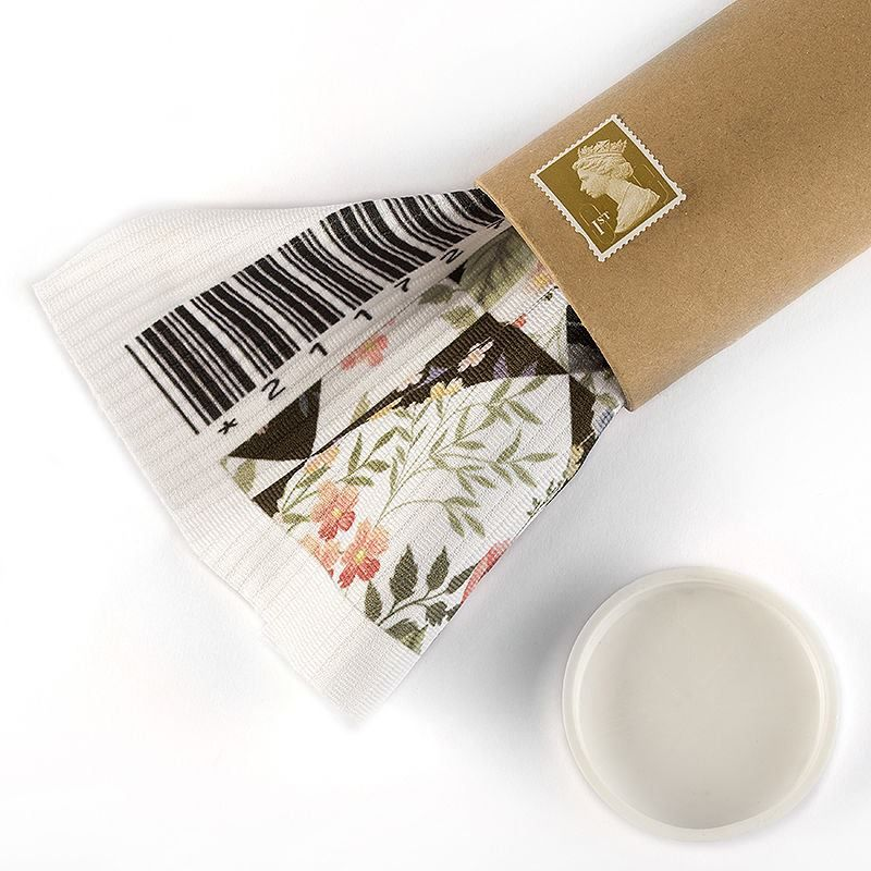 print on Fabric Sample fabric postage tube