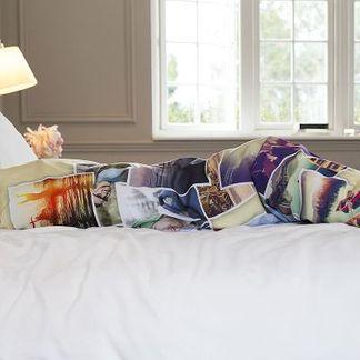 fotokuddar och personliga sängkläder