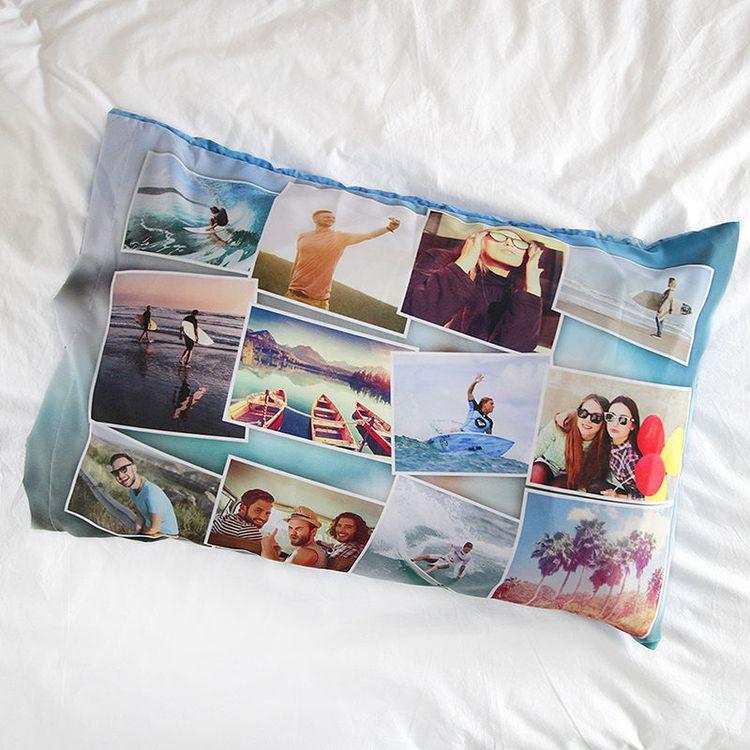 用旅行照片设计个性枕套