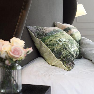 fundas de almohadas personalizadas para cama