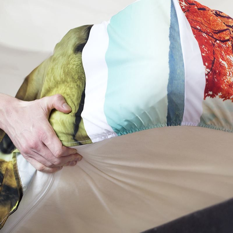 fitted bed sheets corner details