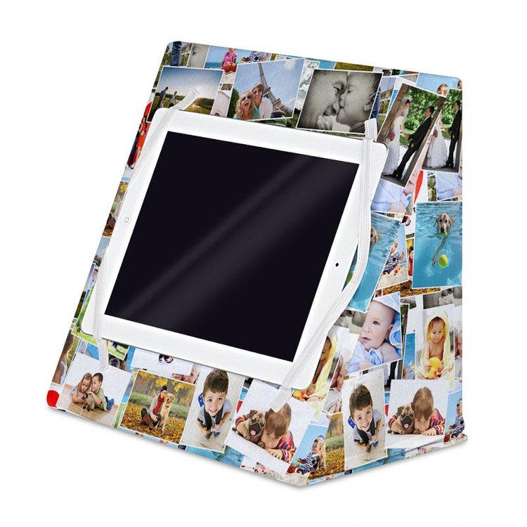 iPad pillow stand with photos
