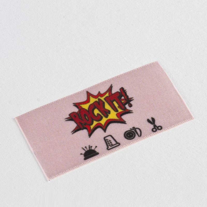 Stofflabel selbst gestalten | 20+ Satin Stofflabel erstellen mit Logo