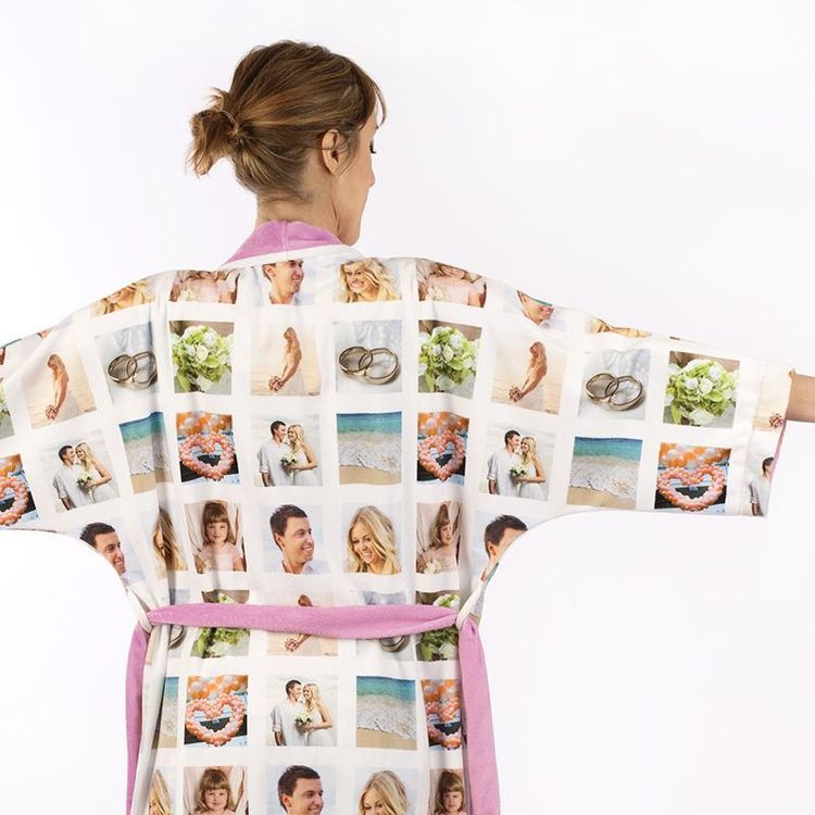 Robe de chambre avec montage photo