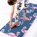 Tapis de yoga personnalisé avec design de flamants roses
