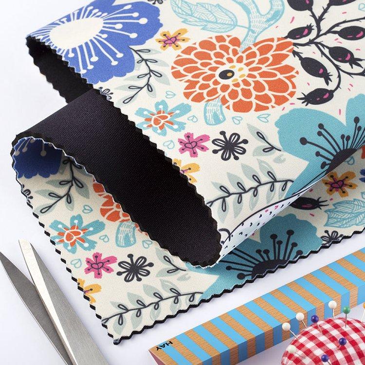 printed neoprene fabric