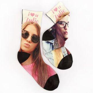 calcetines con fotos regalos para el amigo invisible personalizados