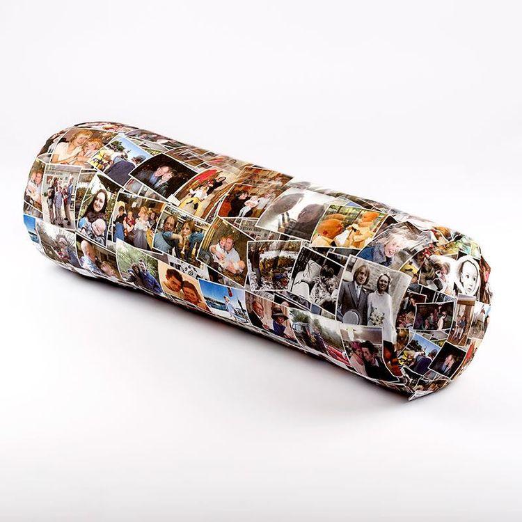 Custom XL Bolster Cushion Collage