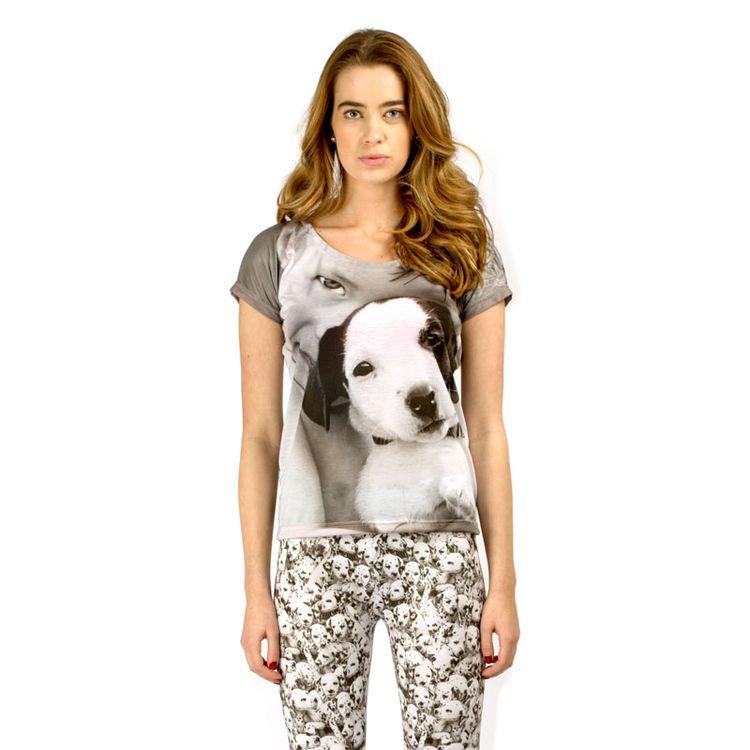 pyjamatop en legging met hondenprint