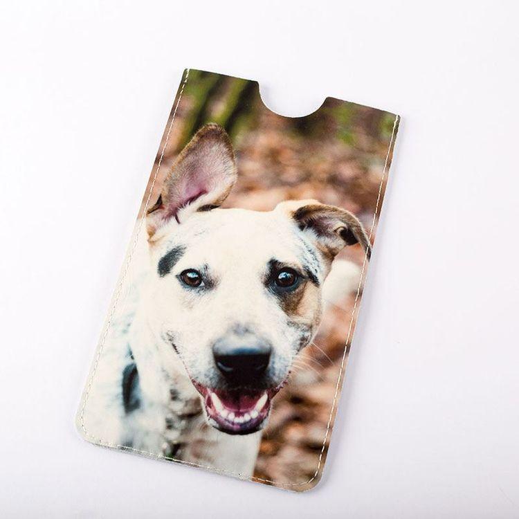 Fundas de piel personalizadas para iPhone 6 plus con foto perro