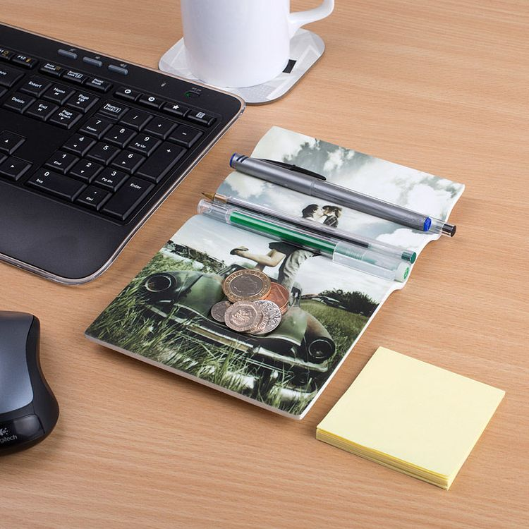オリジナル デスク オーガナイザーに カップルの 写真をプリント