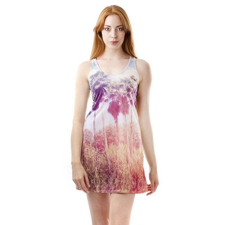 Solklänning med eget tryck