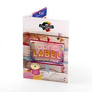 Échantillon de nos étiquettes en tissu