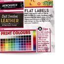 campionario test di stampa etichette abiti full colour