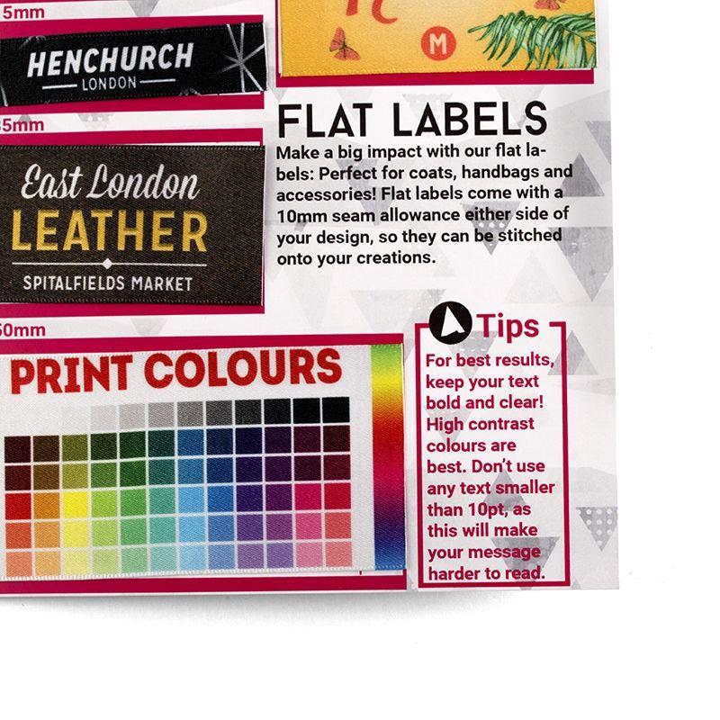 colour print labelsample pack
