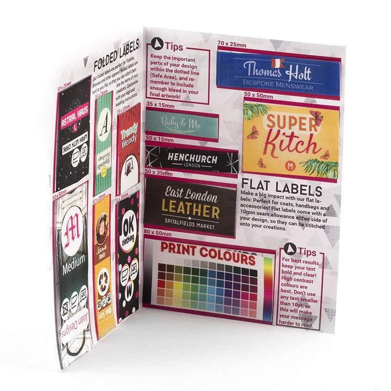 textiletiketten mustersammlung textiletiketten drucken. Black Bedroom Furniture Sets. Home Design Ideas