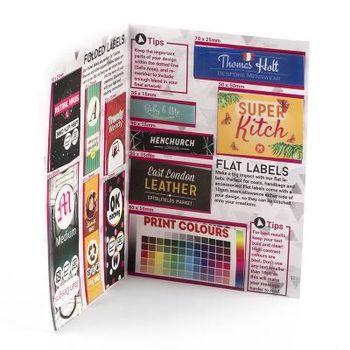 Pack d'échantilon d'étiquettes