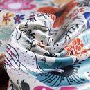 tissu satin Duchesse brillant à imprimer