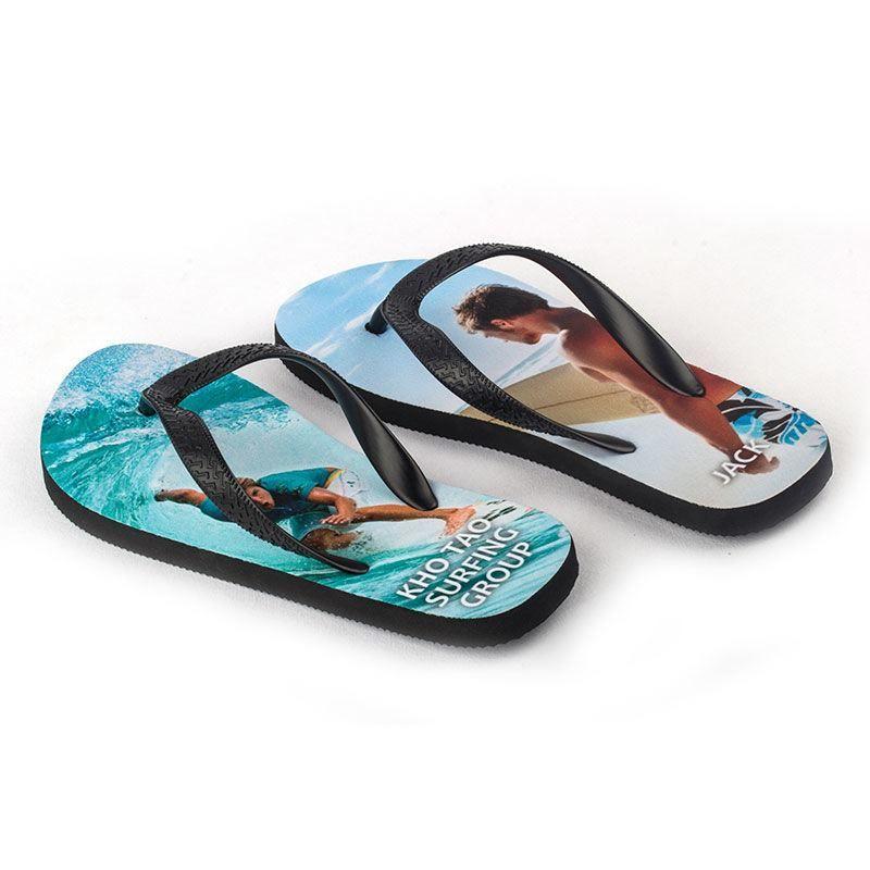 holiday photo flip flops
